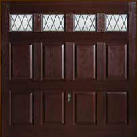 Hormann Series 2000 GRP up and over garage doors Style 2042 Windermere with windows